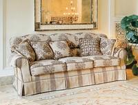 Bacio, Gepolstertes Sofa im klassischen Luxus-Stil für Wohnzimmer