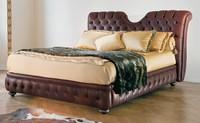 Eleanor, Klassisches Bett mit Kopfteil und Bettrahmen Fülltes gestepptes