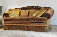 Napoleon, Sofa mit tufted zurück, Samtbeschichtung