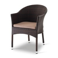 Giada 1, Sessel aus Polyethylen, Alu-Rahmen, für externe