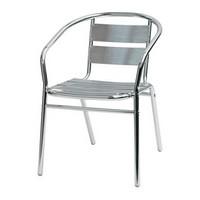 Sd est 1, Stuhl mit Armlehnen komplett aus Aluminium, für externe Verwendung