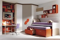 Comp. 955, Junior-Bett, Kleiderschrank, Schreibtisch, Schrankwände