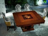 TA50 Class Tisch, Holztisch mit kostbaren Dekorationen, für Luxury Hotel