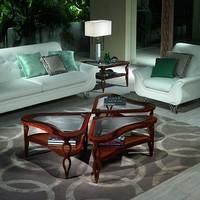 TL38 TL39 Quadrifoglio kleiner Tisch, Einlegearbeiten aus Holz Tische für klassische Villas