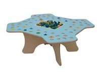 MARAMEO, Kindertisch für Schulen und Kindergärten, Holzstruktur