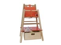 RONDO' HD, Hochstuhl für Kinder, Struktur aus Buchenholz