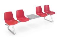 Kaleidos Traversen, Modulare Sitzbank mit Polymerhülle, für Wartezimmer