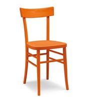 Milano fuselli, Stuhl mit einfachen Zeile, ganz aus Holz, verschiedene Farben