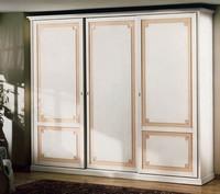 Giunone Kleiderschrank, Luxus Holzschrank in Blattgold verziert, für Schlafzimmer
