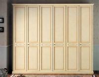 Vega Kleiderschrank, klassische lackiert Schrank mit 6 Türen