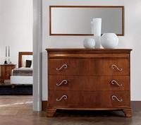 Vivre Kommode Art. 341, Luxus klassischen Kommode in Nussbaum mit 4 Schubladen