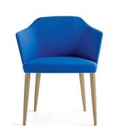 Axel 80 4L FU, Moderne Sessel mit Massivholz-Beinen, um Hotels