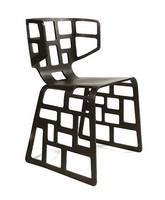 Olè, Design Stuhl mit originellen Formen, gebohrt Schale