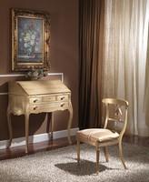 712 WRITING DESK, Luxus klassischen Schreibtisch mit Klappe, Blattgold Finish