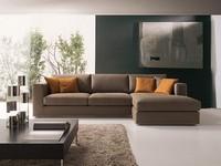 Artico, Modernes Ecksofa, in Stoff oder Leder, für das Sitzen