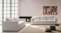 Santiago, Linear Sofa, mit Chrom-Basis, für das Büro