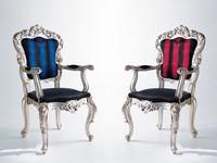 Crudeli, Sessel im klassischen Stil, verschiedene Beschichtungen, für die Lobby