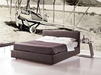Gamma, Bett mit Staukasten, abnehmbarem Stoff, modernes Hotel