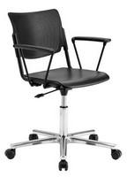 LaMia, Bürostuhl auf Rollen mit Untergestell verchromt